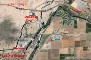 Los Algodones Map