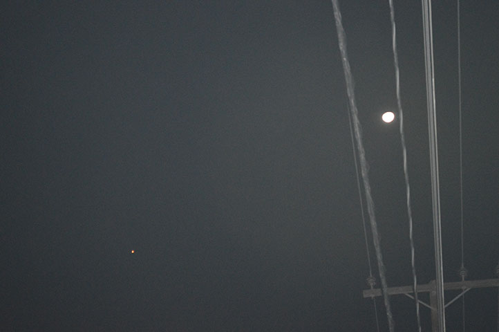 Here's the second UFO (and the Moon) just before it dimmed out